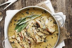 This Pork Loin with Wine and Herb Gravy is absolutely the best pork loin recipe I've ever made! Tender pork loin, cooked with wine, garlic and herbs, then sliced thin with a beautiful gravy.