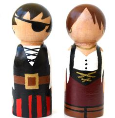 Pirate Wooden Doll - Waldorf Peg Doll. $17.00, via Etsy.