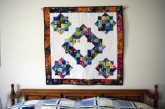 Quilted Wall Hanging Lap Quilt Scraps Gone by MoranArtandQuilts