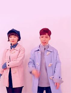 Suhyun (수현) and Chanhyuk (찬혁) of AKMU (Akdong Musician/악동뮤지션). || Credit for this belongs to underrated-idols on Tumblr.