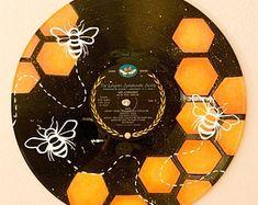 The Sun Painted Record Registros de vinilo pintados a mano | Etsy