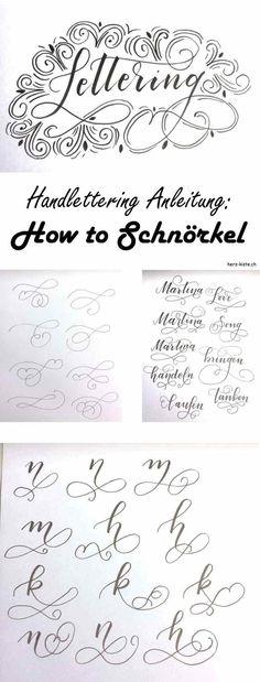 In dieser Lettering Anleitung lernst du, wie du ganz einfach Schnörkel in dein Handlettering integrierst. Zaubere spezielle Buchstaben für dein Lettering dank Schnörkel! Tipps und Tricks zum Schnörkeln
