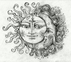 Moon and sun