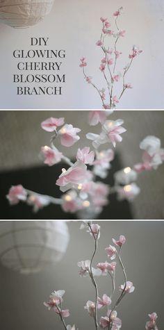 DIY Glowing Cherry Blossom Branch Tutorial