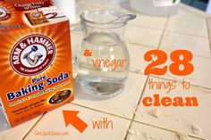 Forget spending hundreds of dollars a year on cleaning supplies and soaps. Let me tell you: baking soda & vinegar get the job done, and they're waaaaay cheaper than your average household cleaner. They're also safer for the kids to use and no harsh chemicals to inhale. 28 things to …
