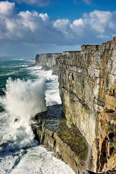The Cliffs of Moher, the Burren region, County Clare, Ireland.
