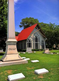 Elmwood Cemetery Chapel by Denia Lane on Capture Memphis // Chapel and Marker