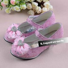 Pink Sequin High Heel Girls Glitz Pageant Party Mary Jane Shoes SKU-133561