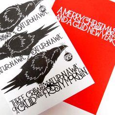 Three Craws Christmas Card Jackdaw, Crows Ravens, Dreaming Of You, Christmas Cards, Artists, Crafty, Cute, Shirt, Ravens