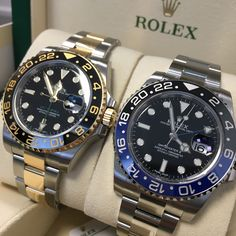 The master of time! Two fantastic GMT's, but which one would you choose? #DailyDuo