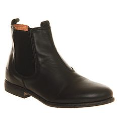 Ten Points Chantilly Chelsea Black Leather - Ankle Boots