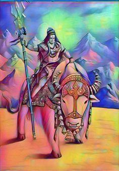 Lord Shiva Painting, Krishna Painting, Indian Gods, Indian Art, Shiva Angry, Ram Hanuman, Shiva Tattoo Design, Ganesh Photo, Sai Baba Photos