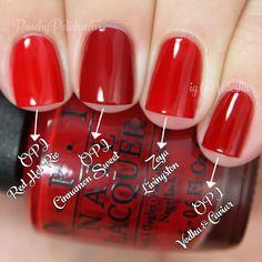 OPI 'Cinnamon Sweet' Comparison | Holiday 2014 Gwen Stefani Collection Comparisons | Peachy Polish