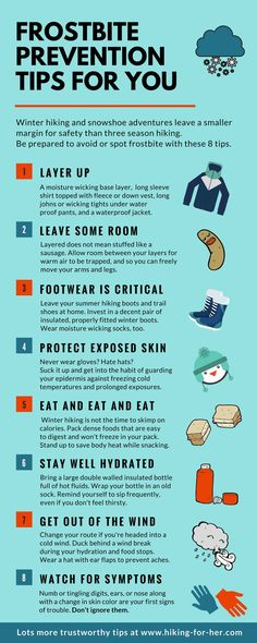 Frostbite Prevention Tips: Best Ways To Avoid Trouble On Winter Hikes Winter hiking and snowshoeing demands extra safety precautions. Use these 8 tips to prevent frostbite, from Hiking For Her. Backpacking Tips, Hiking Tips, Hiking Gear, Hiking Backpack, Ultralight Backpacking, Camping Tips, Hiking Shoes, Baby Hiking, Bushcraft Camping