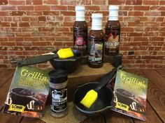 Get saucy with the Cast Iron Grillin' Sauces Kit and Fat Bastard BBQ Sauce!  Set the sauce pot on the grill or stove top and baste your way to deliciousness!