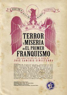"""Teatro para adultos. Aficionados en escena. Espectáculos de grupos amateur de Salamanca. Aula de Teatro Electra. """"Terror y Miseria en el Primer Franquismo"""". Mayo 2012"""
