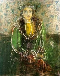 """Dora Maar with a Crown of Flowers"" in 1937 by Pablo Picasso"