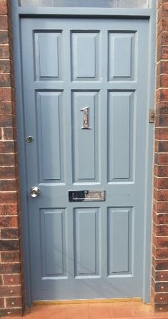 Front door done! Homebase slate grey paint turned out ok! & Home of Colour Matt Emulsion Paint - Stone - 2.5L from Homebase.co ...