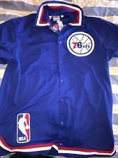 daa8aef47 Mitchell   Ness Philadelphia 76ers Sixers shooting jersey size 52 100% NEW