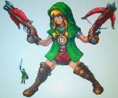 Hyrule Warriors Legends Linkle Perler Bead by kamikazekeeg