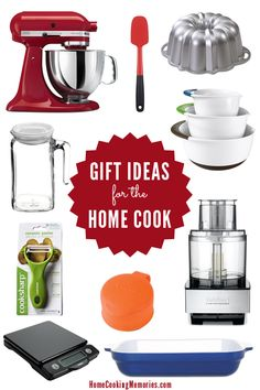 10 Favorite Gift Ideas for the Home Cook - shopping for someone who loves to cook or just getting started in the kitchen? These are some of the best ideas!