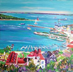 Harbor View by Noel Skiba I painted with this woman, she's amazing :)