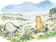 It's World Book Day! And while the likes of Winnie-the-Pooh and The Twits may no longer hold a spot on your bookshelf, there's no end to the life lessons hidden between their pages. From love to loss, we should all take some tips from Dr. Winnie The Pooh Drawing, Cute Winnie The Pooh, Winnie The Pooh Quotes, Eeyore, Tigger, Hundred Acre Woods, Pooh Bear, Children's Book Illustration, Disney Art