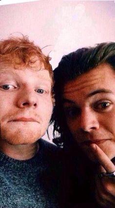 Besties! Ed Sheeran and Harry Styles. Follow rickysturn/harry-styles