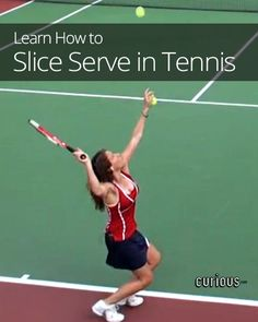 Confound your tennis opponents by learning a new intermediate serve: the slice serve, which causes you ball to veer off in a new direction for its bounce. Tennis Games, Tennis Party, Tennis Gear, Tennis Tips, Tennis Clubs, Sport Tennis, Tennis Clothes, Tennis Players, Tennis Equipment