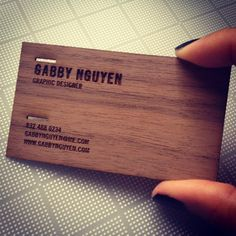The Wood Grain | Laser Etched Wood Business Cards -- best way to make your card amazing