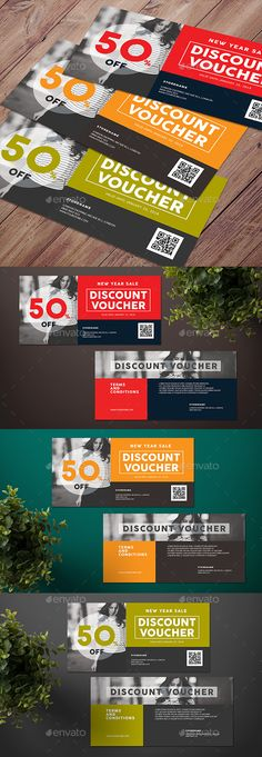Discount Voucher Template Discount vouchers and Font logo - discount coupon template