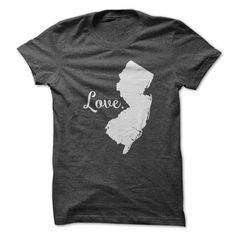 (Top Tshirt Sale) Love New Jersey at Tshirt United States Hoodies, Funny Tee Shirts