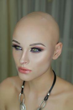 Bald Head Women, Shaved Head Women, Buzz Cut Women, Buzz Cuts, Going Bald, Girls Short Haircuts, Bald Girl, Bald Heads, Shaved Hair