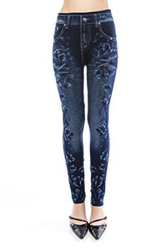 VIRGIN ONLY Women's Denim Jeans Printed Elastic Waist Band Seamless Leggings (157 Navy, One Size) VIRGIN ONLY http://www.amazon.com/dp/B012HS2FNM/ref=cm_sw_r_pi_dp_IN3dwb0CWBDDM