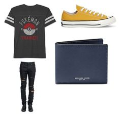 """""""Untitled #595"""" by jamiesowers14 on Polyvore featuring JEM, Yves Saint Laurent, Converse, Michael Kors, men's fashion and menswear"""