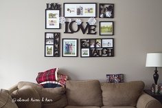 Nice way to display family photos