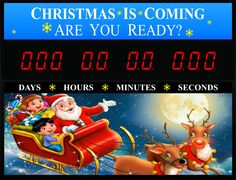 Santa Claus is coming are you ready? Countdown wall sign