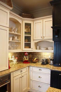 Kitchen Design Gallery   Marsh Kitchens Book Shelf Cabinet With Glass In  Doors