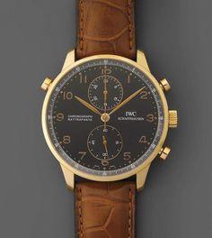 *IWC Portugieser Rattrapante Chronograph Runder, mechanischer Herrenchronograph mit Schleppzeiger i — Taschen- und Armbanduhren