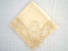 Beautiful Vintage Lace Hankie by jclairep on Etsy, $5.00
