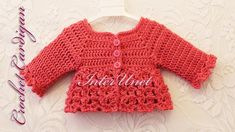 Jacket cardigan for a baby girl