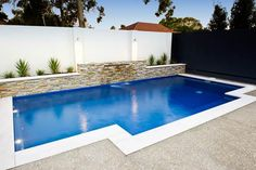Swimming Pool Designs by Leisure Pools Backyard Pool Landscaping, Backyard Pool Designs, Small Backyard Pools, Small Pools, Swimming Pools Backyard, Swimming Pool Designs, Swimming Pool Tiles, Kleiner Pool Design, Leisure Pools
