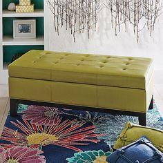 Lauren Leather Storage Ottoman