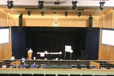 """- in Brisbane, installed a state of the art sound system in This hall is used in all aspects of campus life from assemblies and graduation to plays and dances. cabinets and were """"speced"""" by Optimum coverage! P A System, Anglican Church, Grammar School, Blackbird, State Art, Brisbane, Acoustic, Plays, Schools"""