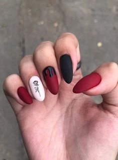 New Year Red Nail Styles to inspire you 2020 simple and beautiful nails, red nails . New Year Red Nail Styles to inspire you 2020 simple and beautiful nails, red nails . Aycrlic Nails, New Year's Nails, Moon Nails, Nail Nail, Stiletto Nails, Coffin Nails, Nail Swag, Grunge Nails, Red Nail Art