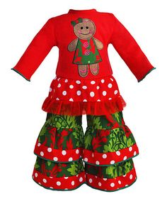 Another great find on #zulily! Red & Green Gingerbread Outfit for 18'' Doll #zulilyfinds