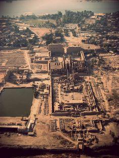 Aerial View Of Karnak Temple, Egypt