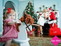 It's your baby's first holiday season, you must document every second of it! Get inspired with these 20 festive framers. Holiday Pictures, Christmas Photos, Christmas Time, White Christmas, Holiday Cards, Christmas Cards, Christmas Decor, Santa Claus Photos, Baby Banners