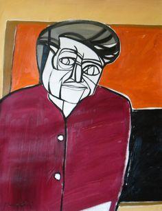 Ritratto di Alberto Burri. Portrait of Alberto Burri. 1995. Gabriele Donelli