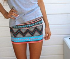I like skirts with a vertical band at the hemline. Also like the striping at the hips. I think this pattern would look good on me.
